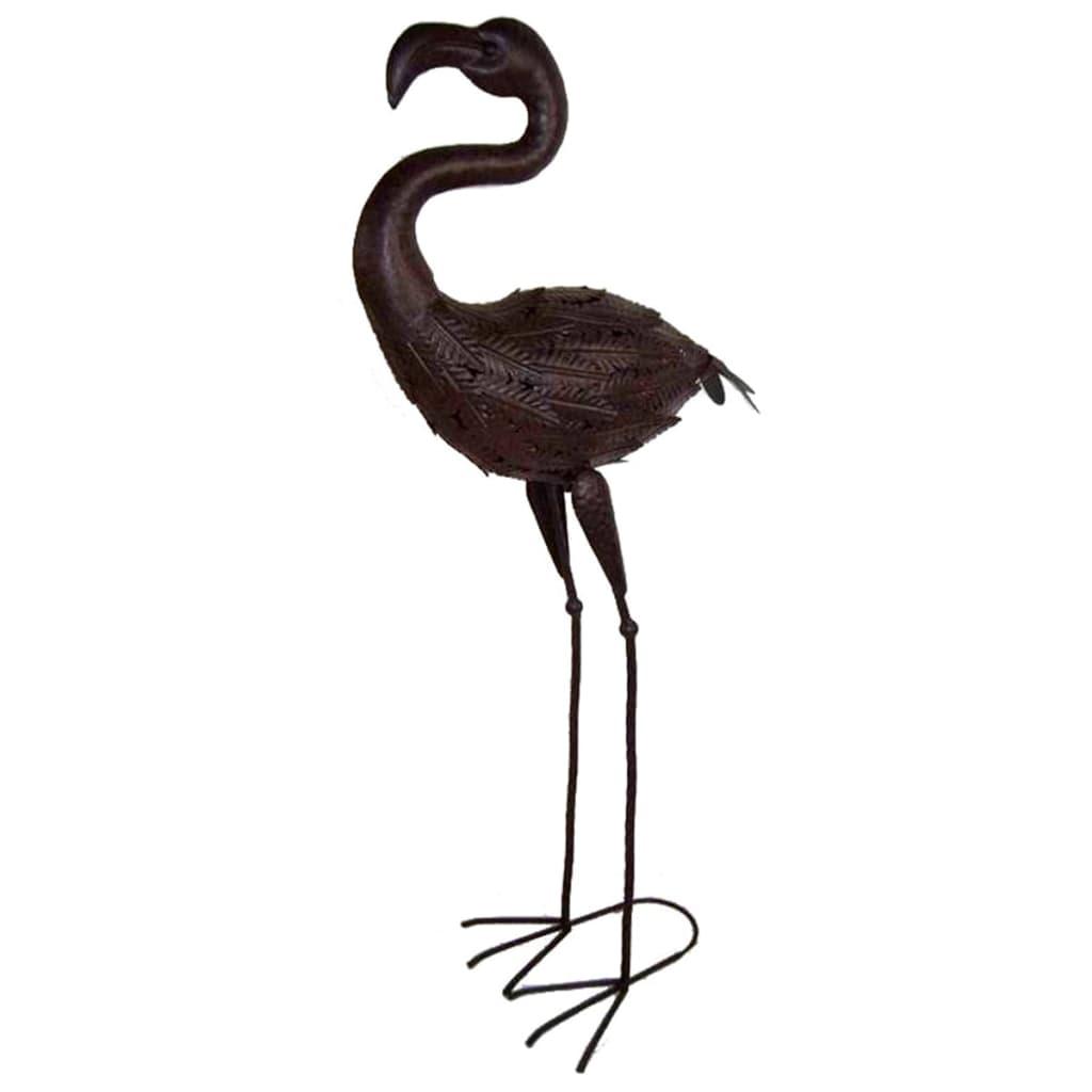 Afbeelding van Velda Vijverornament flamingo metaal bruin 851102