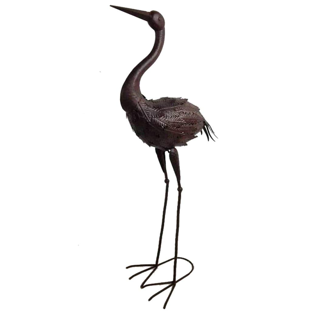 Afbeelding van Velda Vijverornament kraanvogel metaal bruin 851104