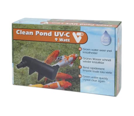 Handla velda clean pond uv c filter 9 w 146542 for Uv pond cleaner
