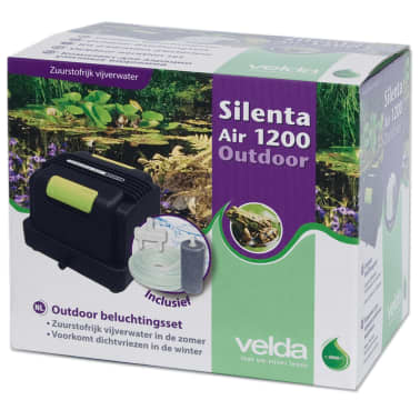 Velda teichwasser bel ftungs set silenta air 1200 20w for Teichwasser