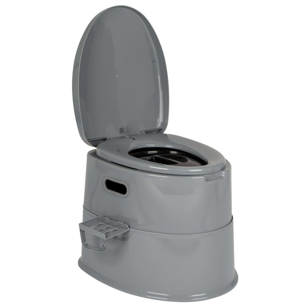 Bo-Camp Toaletă portabilă, gri, 7L vidaxl.ro