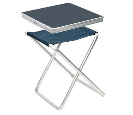 Camp Gear Folding Camping Stool Grey Aluminium 1404346