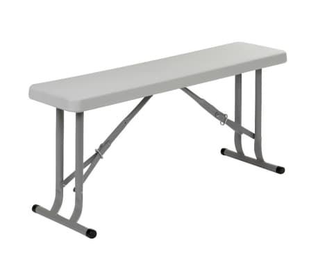 acheter red mountain banc pliable acier blanc pas cher. Black Bedroom Furniture Sets. Home Design Ideas