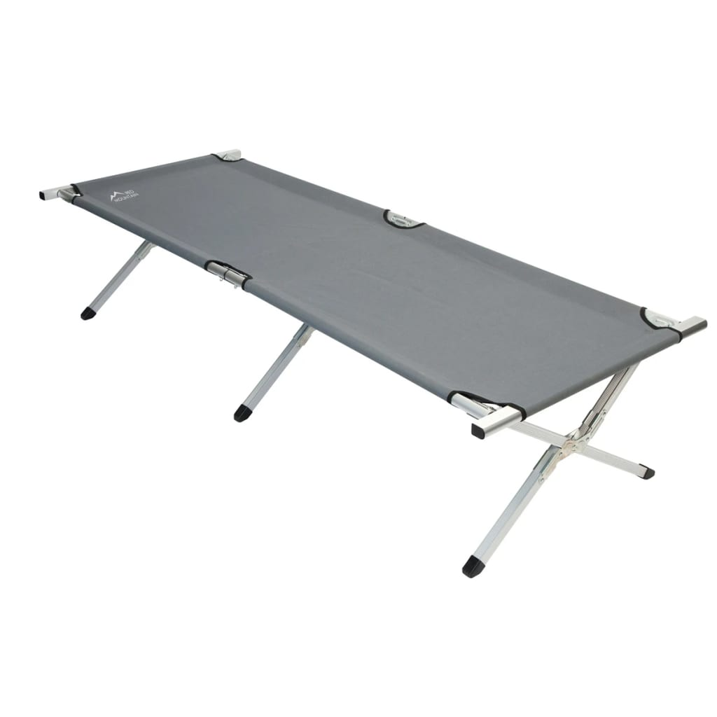 - VidaXL.co.uk - Red Mountain Folding Camp Bed Aluminium Grey