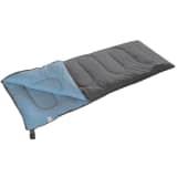 Camp Gear Saco de dormir Populair 200x80 cm gris y azul 3605752