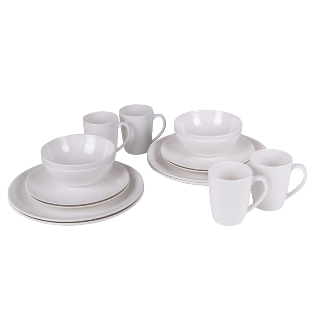 Bo-Garden Set veselă 16 piese, melamină, natural, 6181115 imagine vidaxl.ro