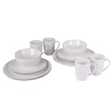 Bo-Garden 16 Piece Dish Set Melamine Natural 6181115
