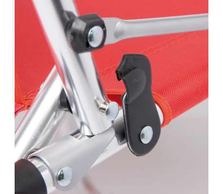 Détails sur Camp Gear Chaise de camping plage pliable pour enfants RougeBleu Aluminium