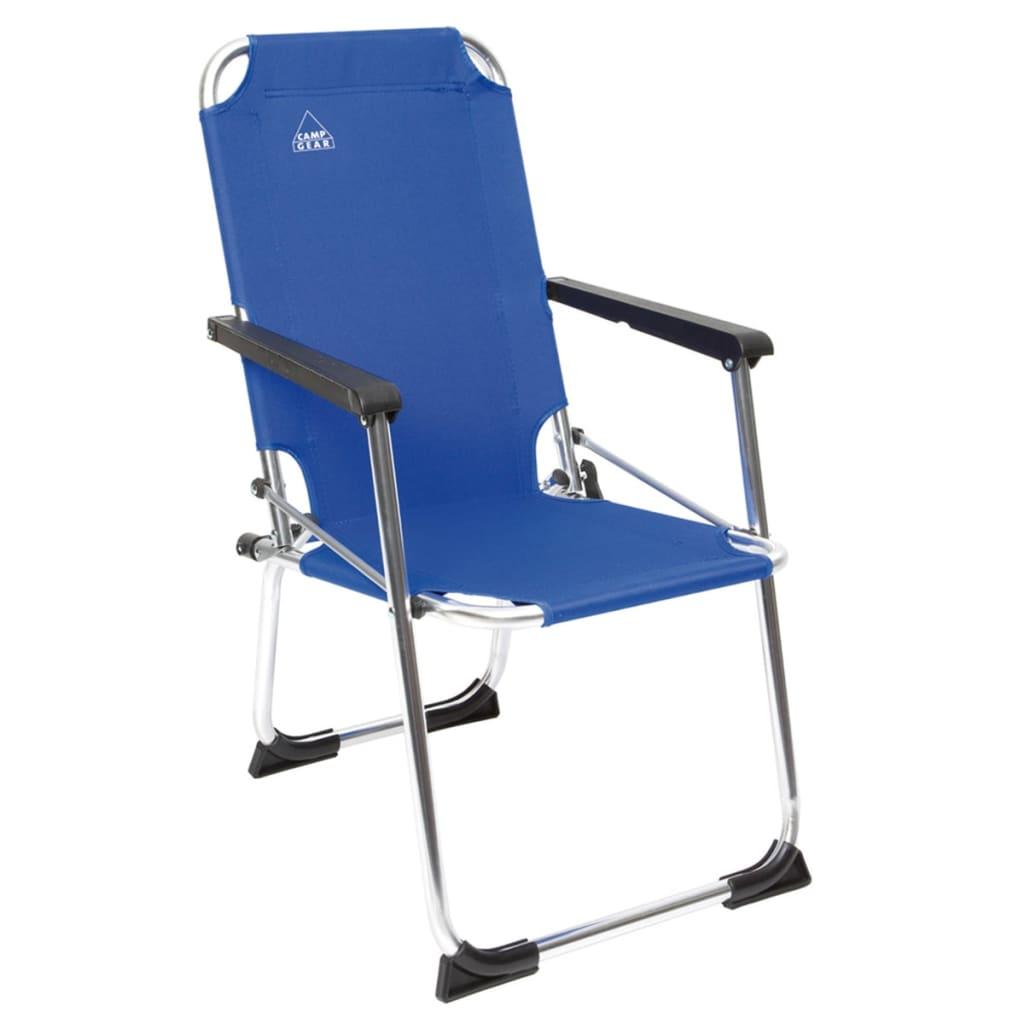 Camp Gear Chaise de camping pliable pour enfants Bleu Aluminium 1211932