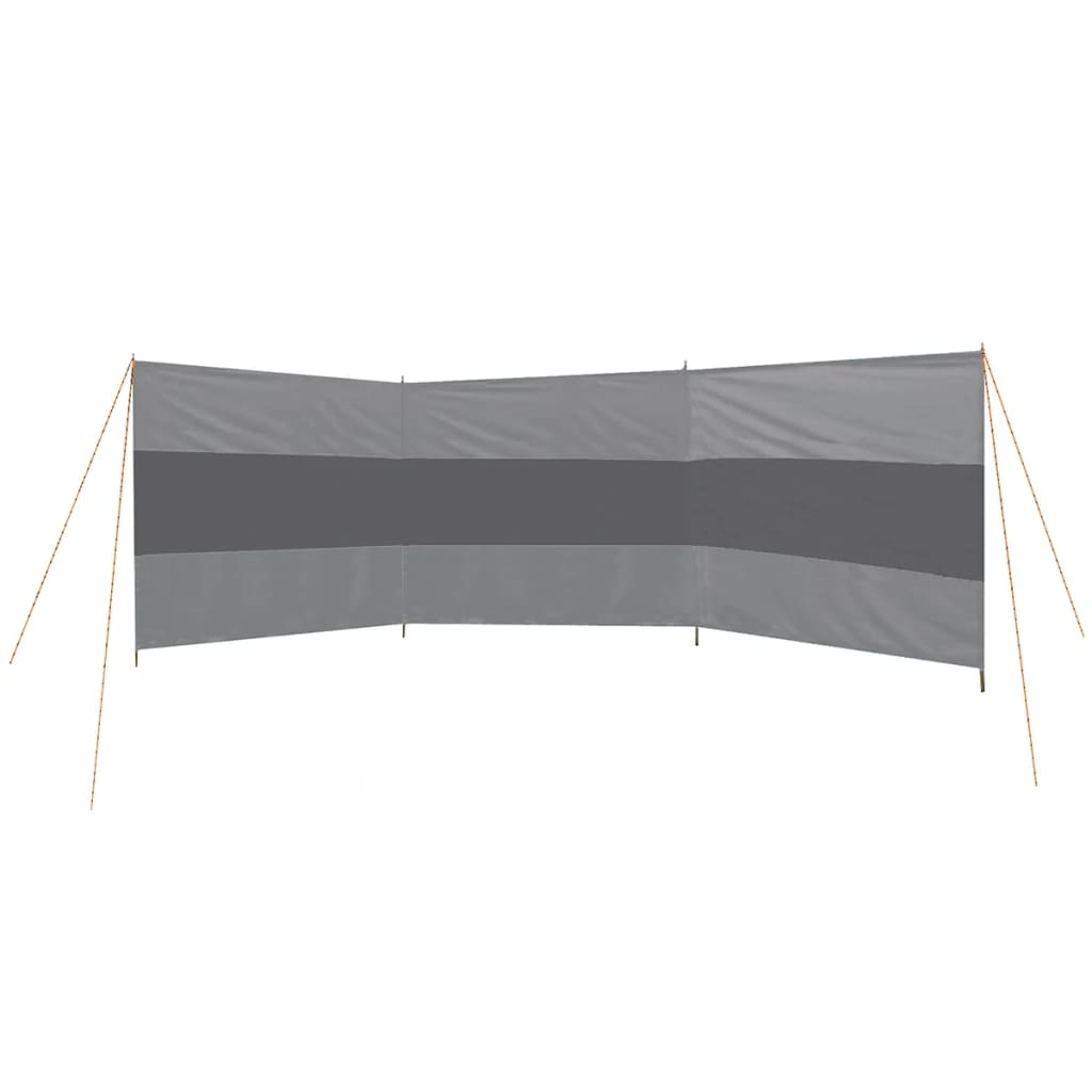 Bo-Camp Paravan anti-vânt, gri, 500 x 140 cm, 4367652 imagine vidaxl.ro