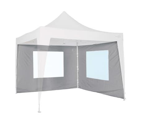Bo-Camp Seitenwand mit Fenster für Partyzelt Grau 3x2,4 m 4472113