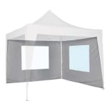 Bo-Camp Side Wall with Window for Marquee Grey 3x2.4 m 4472113