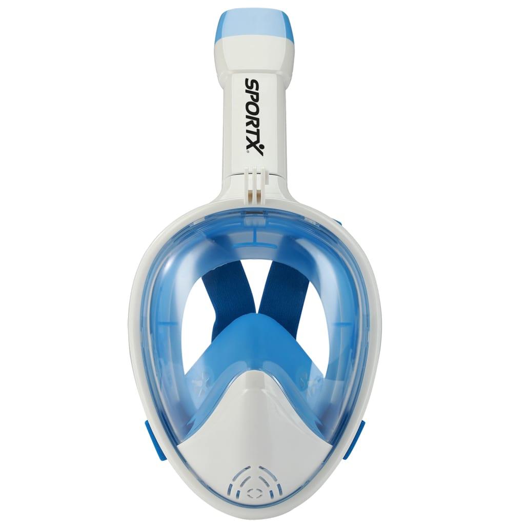 SportX Snorkelmasker volgelaat maat S/M blauw 2000019
