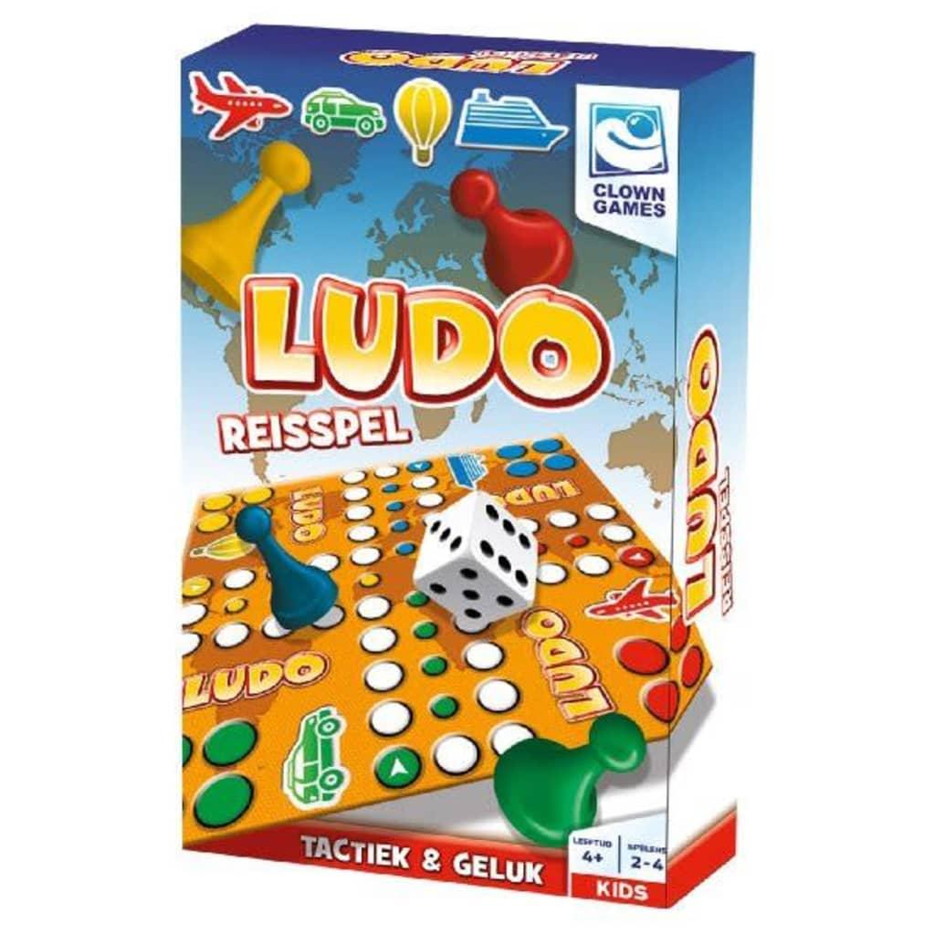 Afbeelding van Clown Games Mens erger je niet: Ludo reisspel.