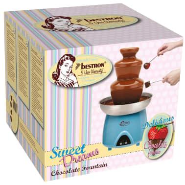 Bestron Fontaine à chocolat électrique fondue au chocolat Bleu 230 W DUE4007