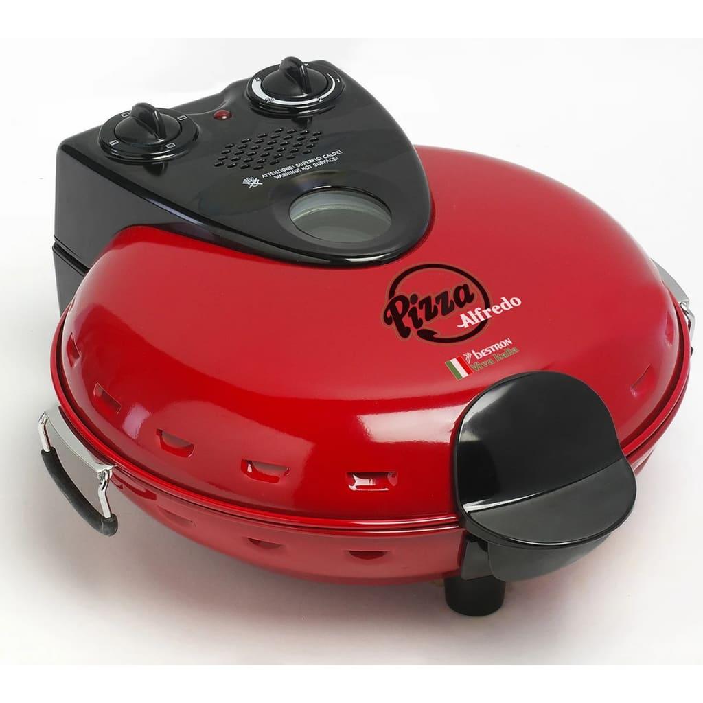 Afbeelding van Bestron Pizzamaker met steen 1000 W rood DLD9070