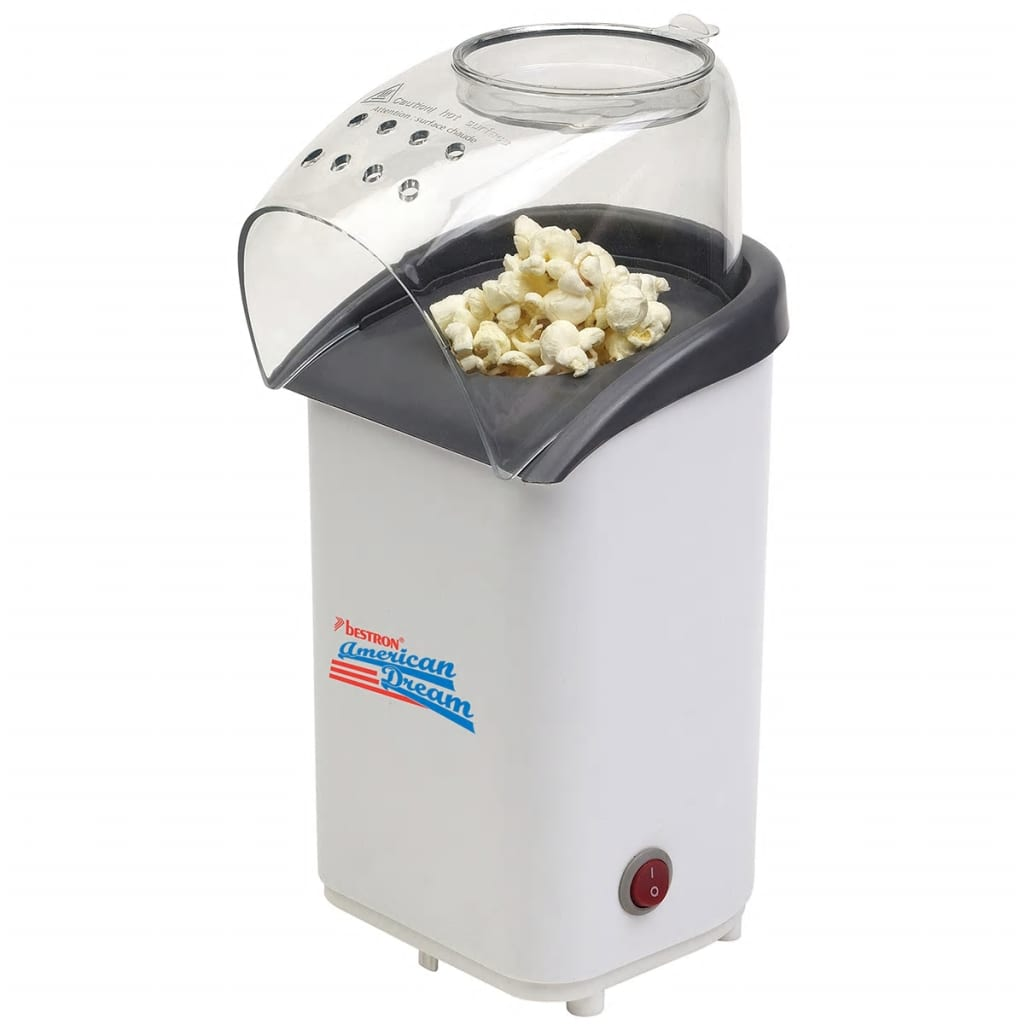 Bestron Popcorngerät Weiß 1100 W APC1001
