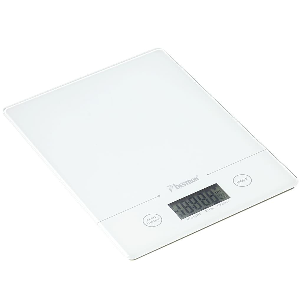 Afbeelding van Bestron Keukenweegschaal 5 kg wit AKS700W
