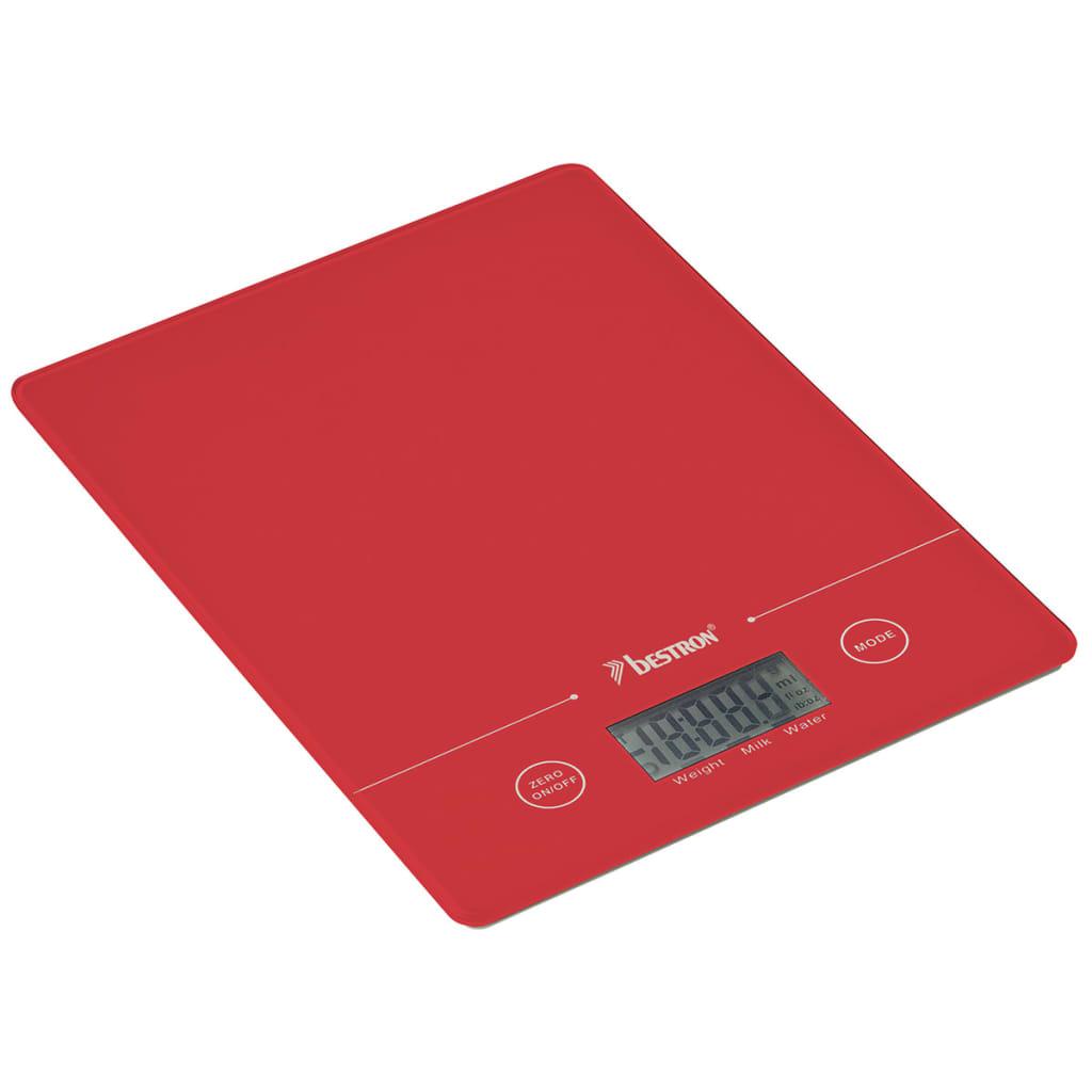 Afbeelding van Bestron Keukenweegschaal 5 kg rood AKS700R