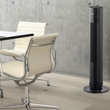acheter ventilateur colonne noir avec minuterie 75 cm 50 w bestron aft760z pas cher. Black Bedroom Furniture Sets. Home Design Ideas