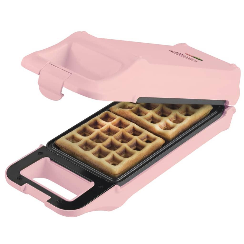 Afbeelding van Bestron Omkeerbare wafelijzer roze 700 W AWF2007R