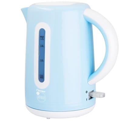 acheter bestron bouilloire lectrique sans fil 1 7 l 2200 w bleu awk300evb pas cher. Black Bedroom Furniture Sets. Home Design Ideas