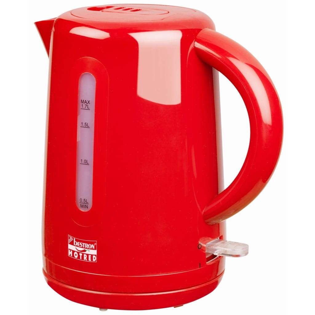 Afbeelding van Bestron Draadloze elektrische 2waterkoker 1,7 L rood 2200 W AWK300HR