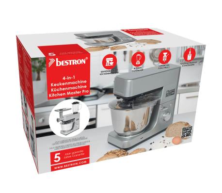 Bestron 4-in-1 Robot da Cucina 1600 W 5 L Grigio AKM1600S   vidaXL.it