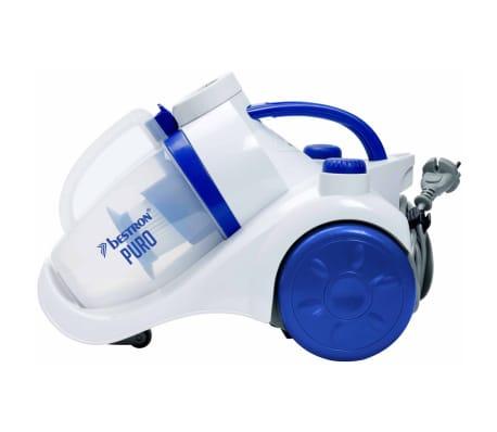 acheter bestron aspirateur sans sac puro plus blanc et bleu abl830wb pas cher. Black Bedroom Furniture Sets. Home Design Ideas