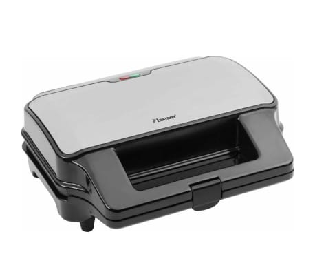 Bestron Contactgrill  3-in-1 900 W zwart roestvrij staal ASG90XXL