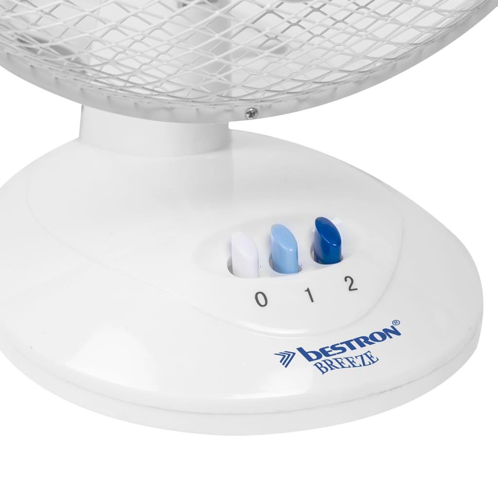 Bestron Ventilateur de Bureau Blanc Rafraîchisseur d'Air Ventilateur de Table 2