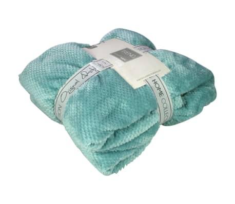 Gusta Fleecefilt pompon 152x127 cm blå 04125070[1/2]