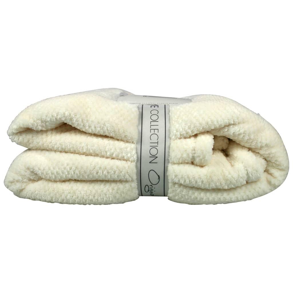 Gusta Fleece deken pompon ivoor 152x127 cm 04125080