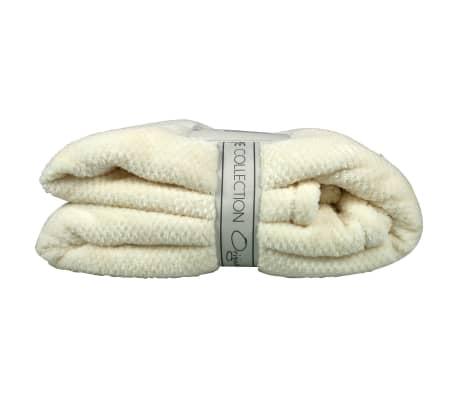Gusta Fleecefilt pompon 152x127 cm elfenbensfärgad 04125080[2/2]