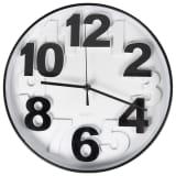 Gusta Uhr 29,5 x 4 cm Schwarz und Weiß 04160460