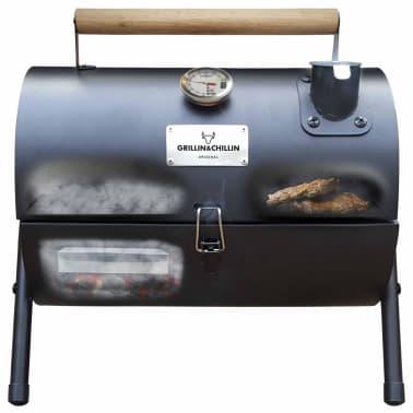 Gusta Anglinė kepsninė-rūkykla, 2-1, juoda, 03251000[3/7]