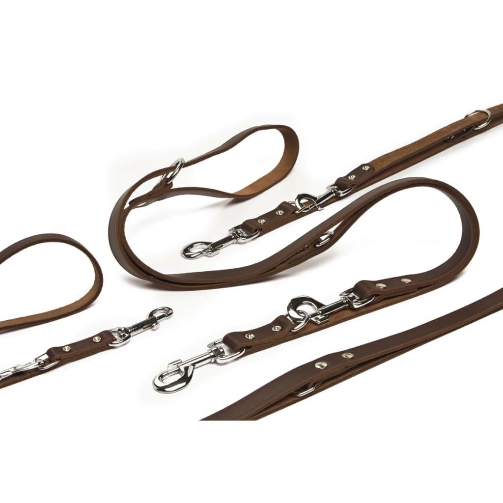Beeztees træningssnor læder brun 200x1,2 cm 736401