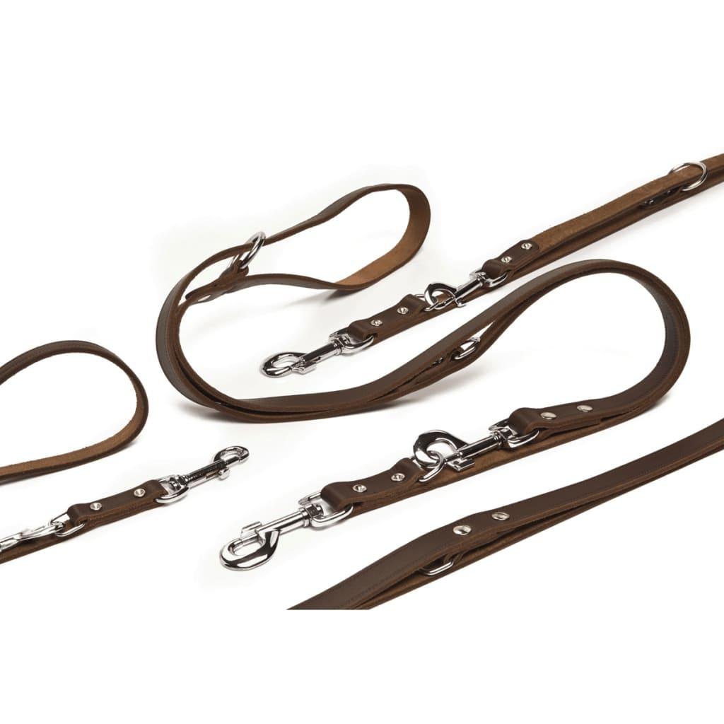 Beeztees træningssnor læder brun 200x1,8 cm 736402