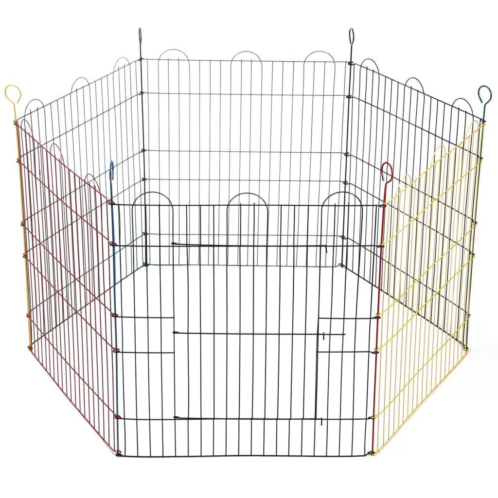 Beeztees kaninindhegning 6 paneler 66,5x58 cm metal