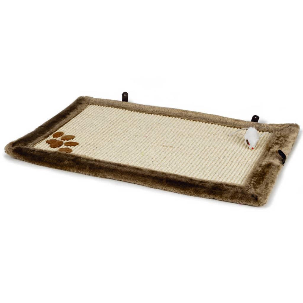 Beeztees Katten krabmat Wave 55x35 cm bruin 405718