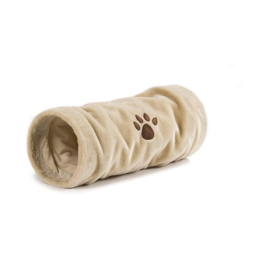 Afbeelding van Beeztees Katten speeltunnel Crispy beige 22x60 cm pluche 704791