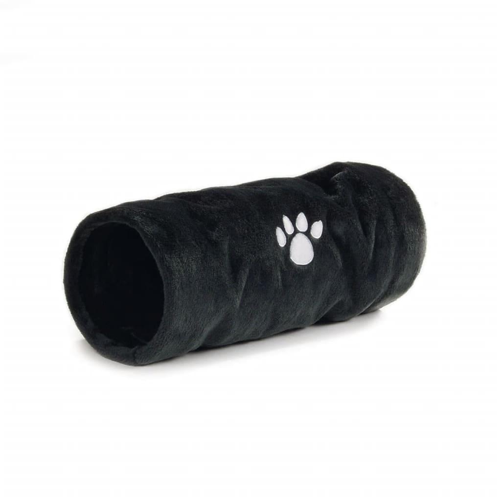 Afbeelding van Beeztees Kattenspeeltunnel Crispy grijs 22x60 cm pluche 704792