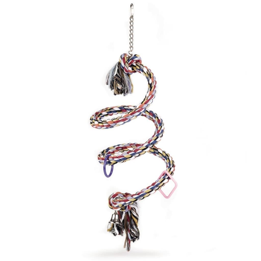 Afbeelding van Beeztees Vogelschommel voor papegaaien spiraalvormig 20 x 60 cm katoen 5166
