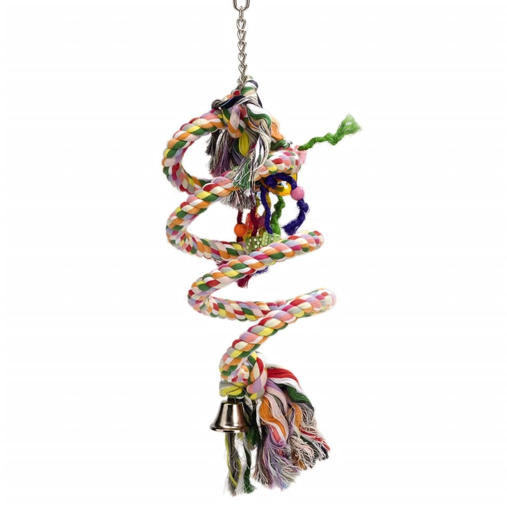 Afbeelding van Beeztees Vogelschommel spiraalvorming 15x70 cm katoen 5167