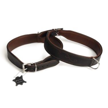Beeztees Collar de perro Swirl cuero marrón 45 mm 68-76 cm 745846[1/4]
