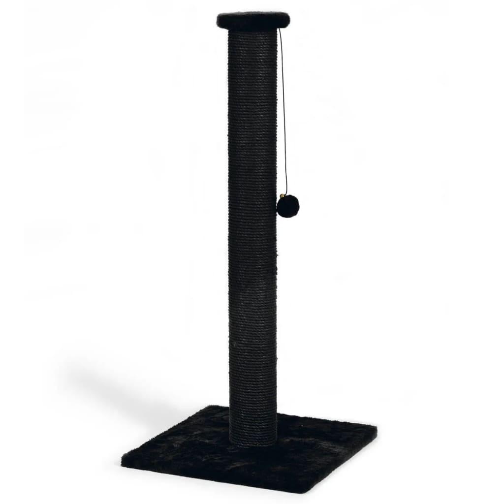 Beeztees Stâlp de zgâriat pentru pisici Serpa, negru, 40 x 40 x 90 cm poza 2021 Beeztees