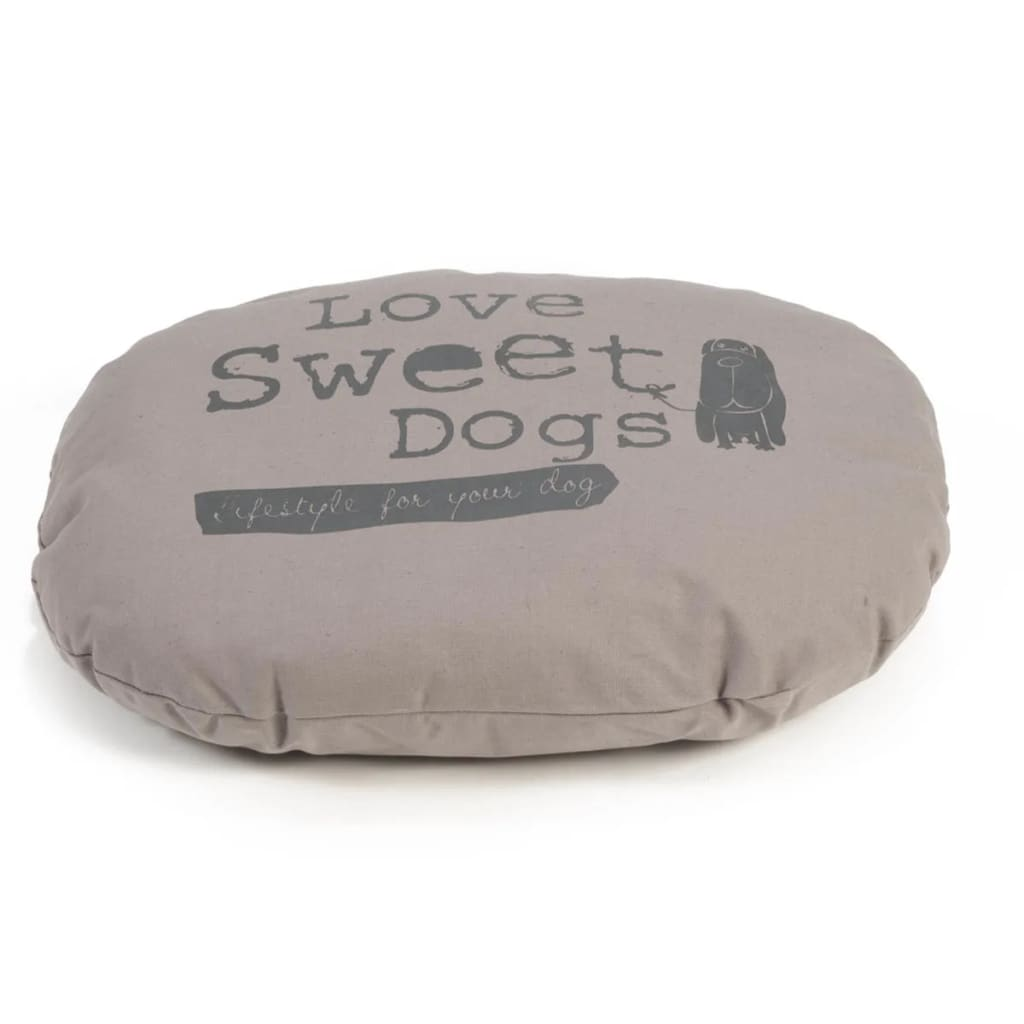 Beeztees Coussin Couchage Oreiller Pour Chiens Sweet Dogs Mocha 56 X 42 Cm