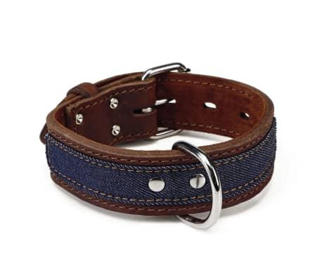 Beeztees Collar de perro Denim cuero 40 mm 33-43 cm marrón 745944[1/2]