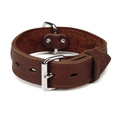 Beeztees Collar de perro Denim cuero 40 mm 33-43 cm marrón 745944[2/2]