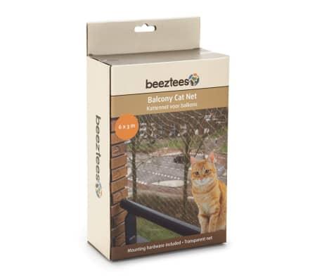 Beeztees Katzenschutznetz für Balkone Transparent 6 x 3 m 410483[1/2]
